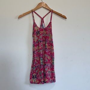 dELiA*s Hot Pink Patterned Cami Size Extra Small
